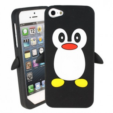 Apple Iphone 6 / 6s 3D silikoonkaitse pingviin must