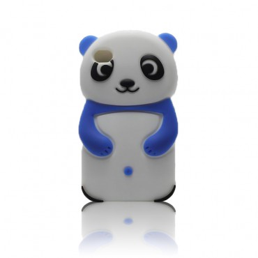 Apple Iphone 5 / 5S / SE 3D silikoonkaitse panda valge
