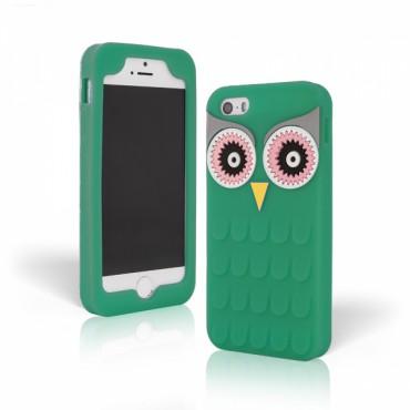 Apple Iphone 6 / 6s 3D silikoonkaitse öökull roheline