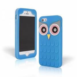 Apple Iphone 5 / 5S / SE 3D silikoonkaitse öökull sinine