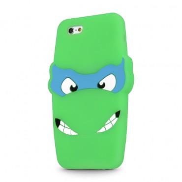 Apple Iphone 6 / 6s 3D silikoonkaitse Ninja roheline