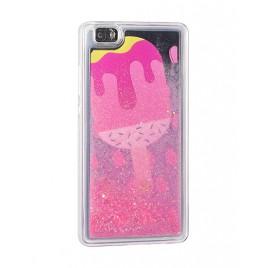 Huawei P8 Lite 2017 / P9 Lite 2017 3D vedelikuga silikoonkaitse Icecream roosa