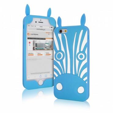 Apple Iphone 6 / 6s 3D silikoonkaitse zebra sinine