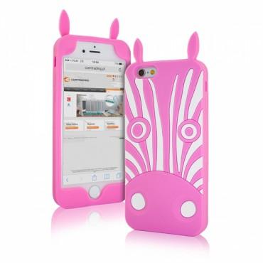 Apple Iphone 6 / 6s 3D silikoonkaitse zebra roosa