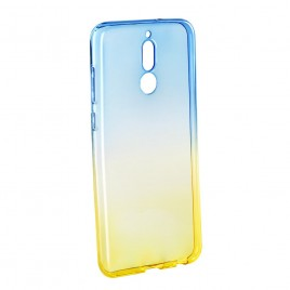 Samsung A8 (2018) / A530 silikoonkaitse Ombre helesinine/kollane