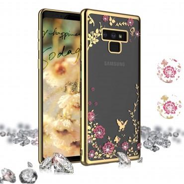 Samsung S10 Plus / G975 Beeyo silikoonkaitse Secret Garden kuldne