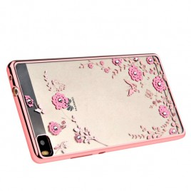 Xiaomi Redmi 4A Beeyo silikoonkaitse Secret Garden roosa