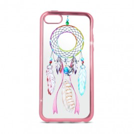 Apple Iphone 5 / 5s / SE Beeyo silikoonkaitse Dreamcatcher roosa