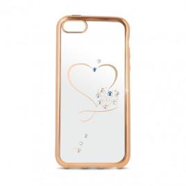 Samsung S7 / G930 Beeyo silikoonkaitse Heart gold