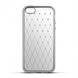 Apple Iphone 6 Plus / 6s Plus Beeyo silikoonkaitse Diamond Grid hõbedane