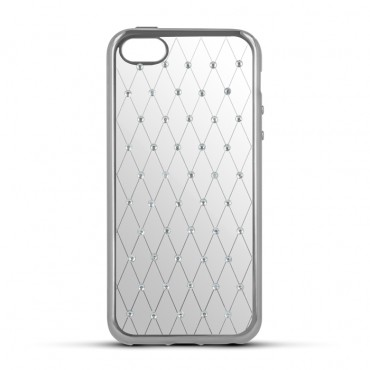 Apple Iphone 5 / 5s / SE Beeyo silikoonkaitse Diamond Grid hõbedane