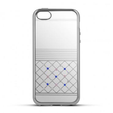 Apple Iphone 7 / 8 Beeyo silikoonkaitse Luxury hõbedane