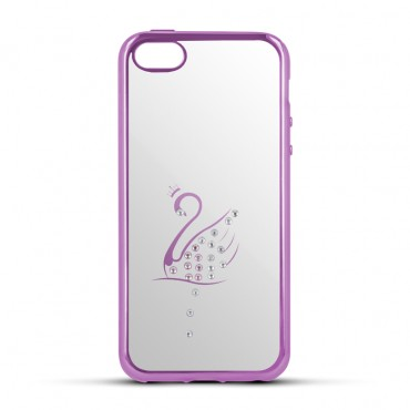 Sony Xperia M5 Beeyo silikoonkaitse Swan roosa