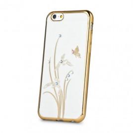 Samsung S6 / G920 Beeyo silikoonkaitse Butterfly kuldne