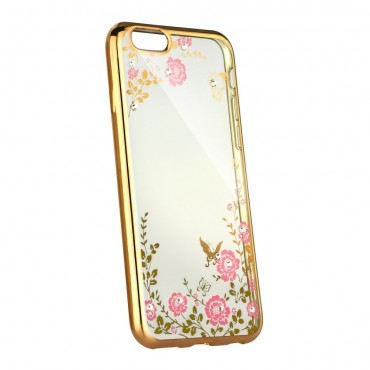 Apple Iphone 5 / 5s / SE Beeyo silikoonkaitse Secret Garden gold