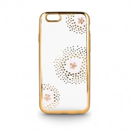 Apple Iphone 6 / 6s Beeyo silikoonkaitse Flower Dots kuldne