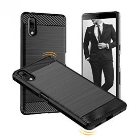 Sony Xperia L3 silikoonkaitse Carbon must