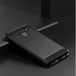 LG Q60 silikoonkaitse Carbon must