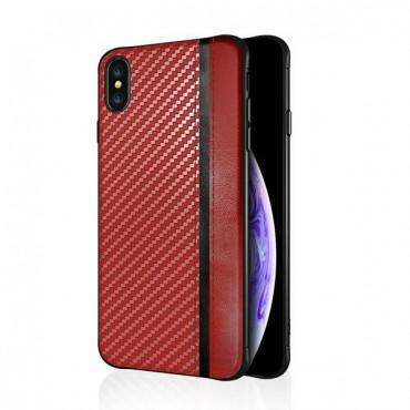 Samsung S10 / G973 silikoonkaitse Mulsae Carbon punane