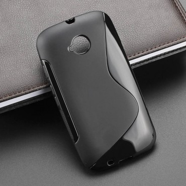 Samsung A3 / A300 Silikoonkaitse S-case must