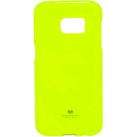 Samsung A7 (2016) / A710 Mercury Jelly Silikoonkaitse Helendav laimiroheline