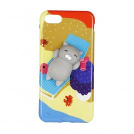 Apple Iphone 6 / 6S 3D silikoonkaitse Squishi Cat Gray