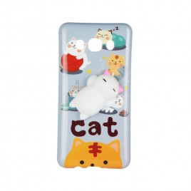 Apple Iphone 6 / 6S 3D silikoonkaitse Squishi Cat White