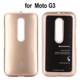 Motorola Moto G3 Mercury Jelly silikoonkaitse kuldne