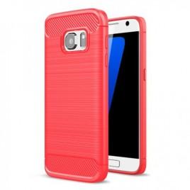 Nokia 2 silikoonkaitse Carbon punane