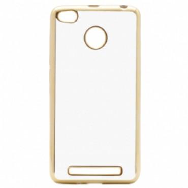 Xiaomi Redmi 3s / 3 Pro Fancy silikoonkaitse kuldse äärega