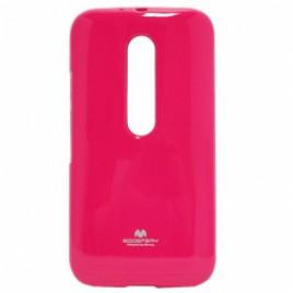 Motorola Moto G3 Mercury Jelly silikoonkaitse roosa