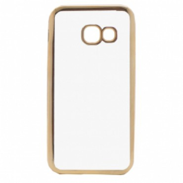 Samsung A5 (2017) / A520 Fancy silikoonkaitse kuldse äärega