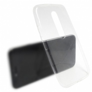 Motorola Moto G3 õhuke silikoonkaitse läbipaistev
