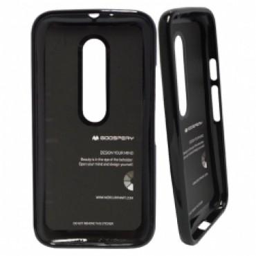 Motorola Moto G3 Mercury Jelly silikoonkaitse must