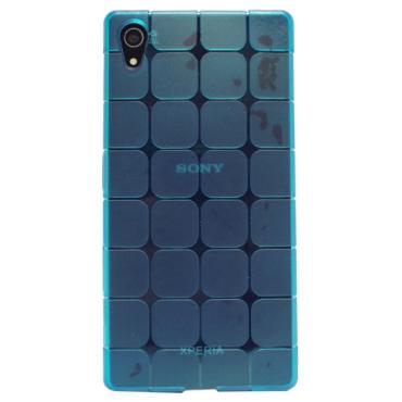 Samsung G530 / G531 Galaxy Grand Prime silikoonkaitse ruudud sinine