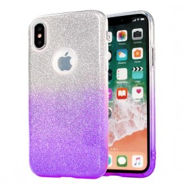 Samsung A7 (2018) / A750 silikoonkaitse Bling lilla