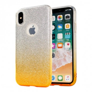 Apple Iphone XR silikoonkaitse Bling kuldne