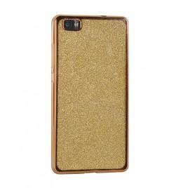 Huawei P10 Lite silikoonkaitse Glitter kuldne