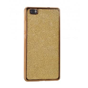 Samsung S7 / G930 silikoonkaitse Glitter kuldne