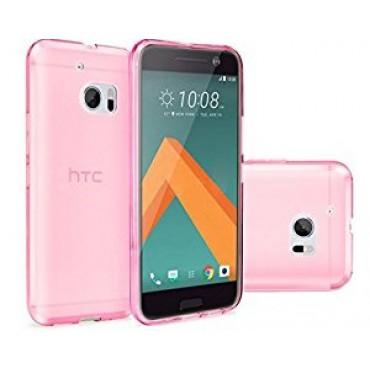 HTC One M10 silikoonkaitse õhuke läbipaistev roosa