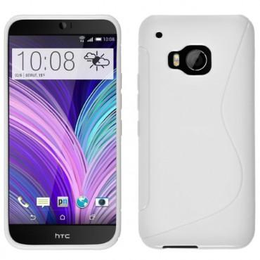 HTC One M9 silikoonkaitse valge