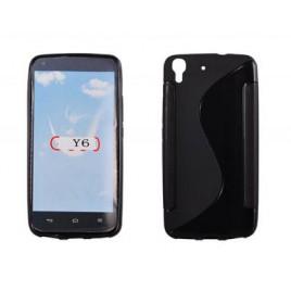Huawei Y6 / Honor 4A silikoonkaitse must