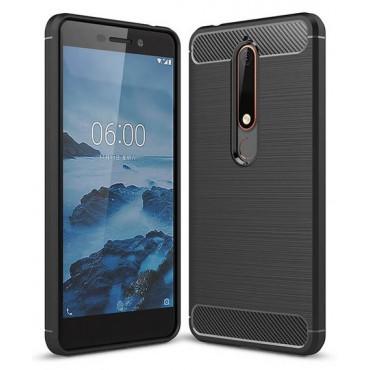 Nokia 6.1 silikoonkaitse Carbon must