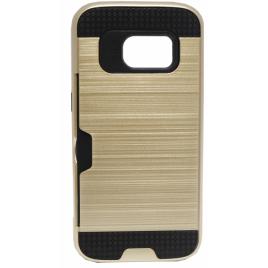 Samsung G935 Galaxy S7 Edge Armor Silikoon plastik hübriidkaitse Kuldne