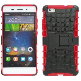 Samsung G530 / G531 Galaxy Grand Prime Armor Silikoon plastik hübriidkaitse Punane