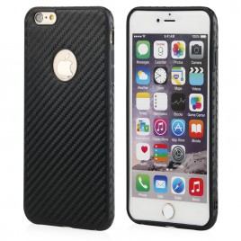 Apple Iphone 6 / 6s Qult Carbon silikoonkaitse must