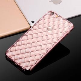 Apple Iphone 6 / 6s 3D silikoonkaitse Grid roosa