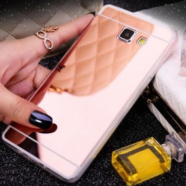 Samsung J510 / J5 (2016) Silikoonkaitse Peegeltagusega roosa