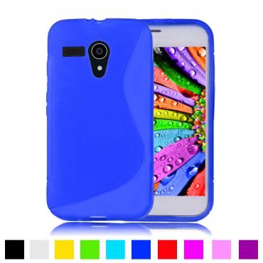 Motorola Moto G XT1028 silikoonkaitse sinine