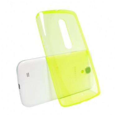 Motorola Moto X Play silikoonkaitse õhuke kollane